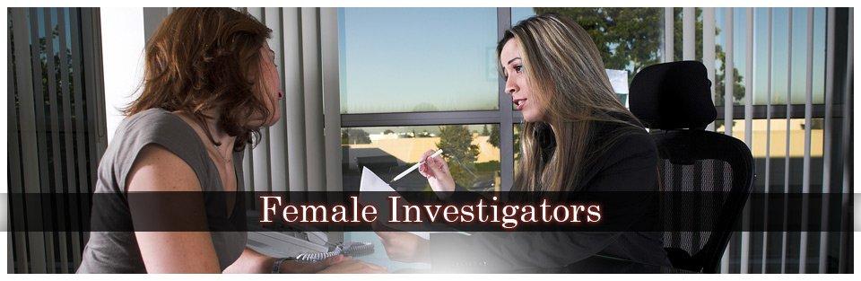 female private investigators discussing case